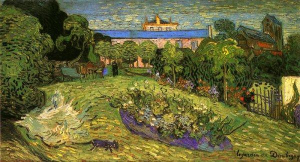 Vincent Van Gogh  ,  le jardin de Daubigny  , Auvers sur Oise ,  juillet 1890.