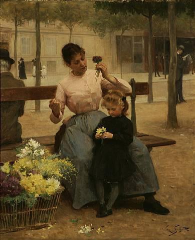 Victor Gabriel Gilbert  (1847-1933)    :   3 tableaux