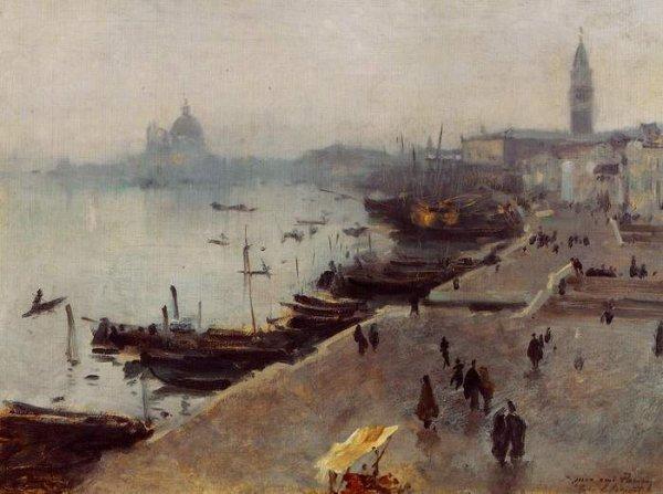 METEO  DU  JOUR ...    ,   John Singer Sargent (1856-1925)   :  Venise par temps gris...