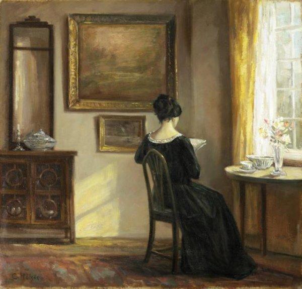 Carl Holsoe (1863-1935)    :  la liseuse