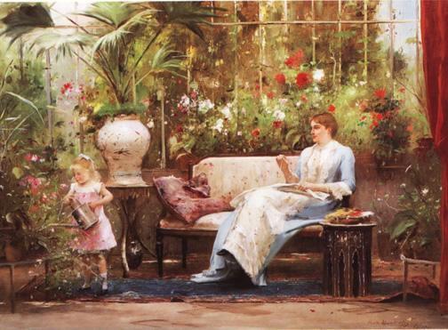 Un petit tour dans les serres...  Mihaly Munkacsy   (1844-1900)