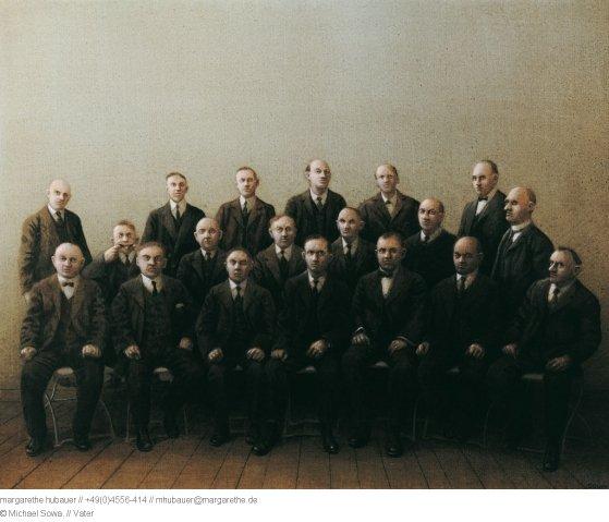 Le Michael Sowa du jour   :   le père du peintre se trouve sur la photo ,  guess who....?   :-)