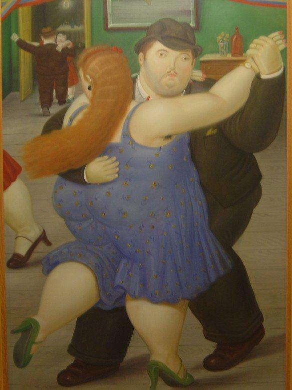 Les pas du tango argentin...  /   Les danseurs de tango  , Fernando Botero