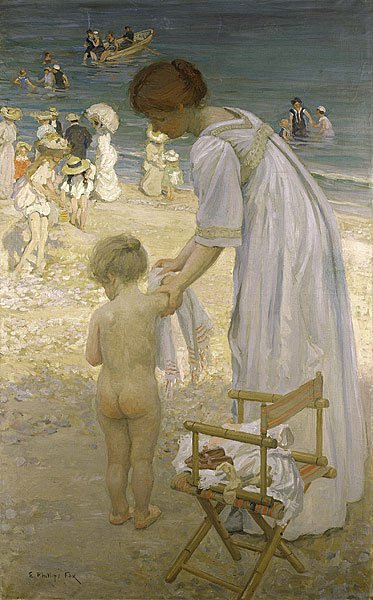 Emanuel Phillips Fox   (1865-1915)  : bathing hour