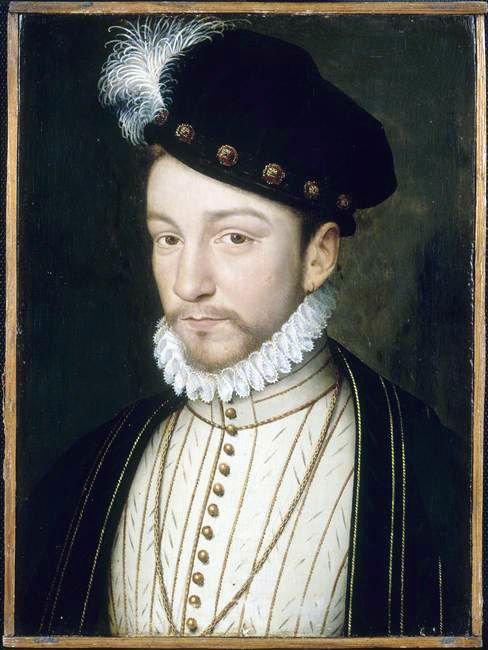 Le jeu des ressemblances...  :  Jean-Hugues Anglade   /  Charles IX de Valois par François Clouet  (1520-1572)