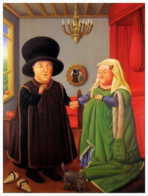 Détournement boteresque d' époux Arnolfini...