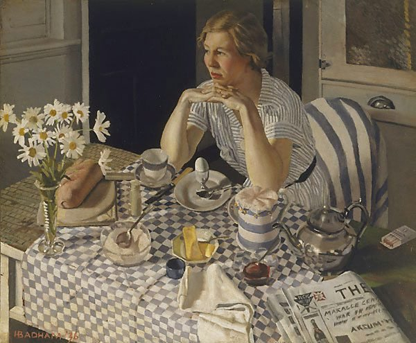 Herbert Badham  (1925-1961)   :   breakfast piece  (1936)