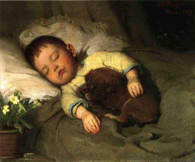 Abbott Anderson Thayer (1849-1921)  :  sleep.