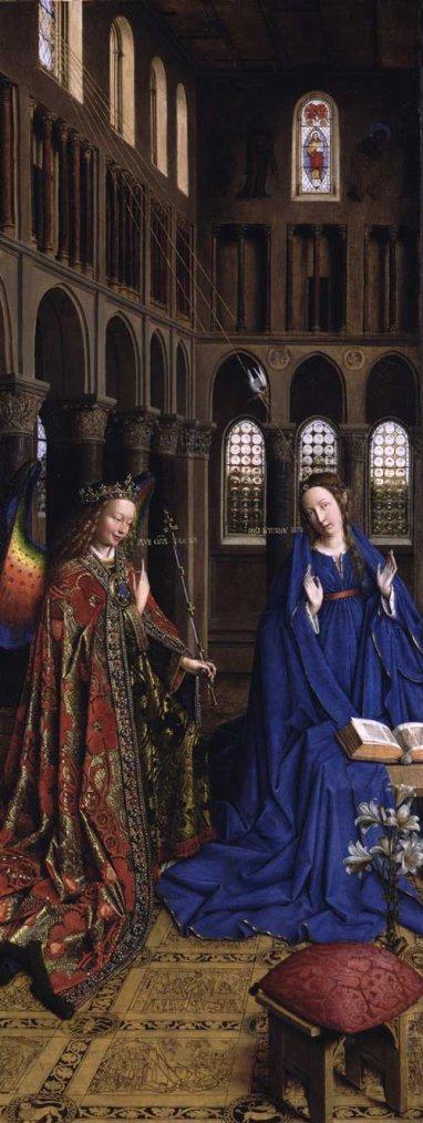 Equinoxe de printemps  /  Annonciation  :  Jan  VAN  EYCK  (1390-1441)  /  1434