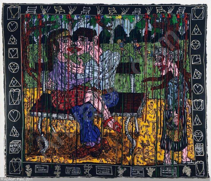 Georges Brassens - Les amoureux des banc publics  /  un peintre sétois , Robert Combas,  illustre un chanteur sétois...(1992)