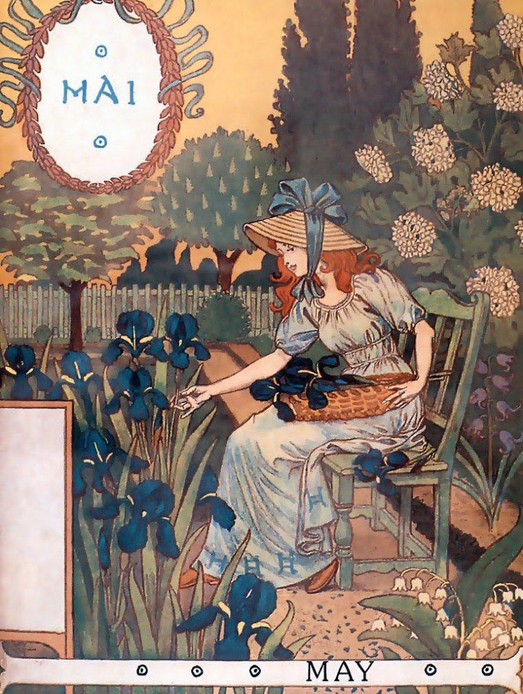 """""""Cloches naïves du muguet, carillonnez ! car voici Mai !  sous une averse de lumière, les arbres chantent au verger, et les graines du potager sortent en riant de la terre... """"  Maurice  Carême."""