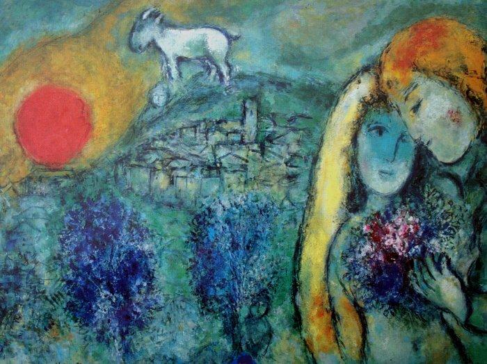 Un po me de boris vian sur un tableau de marc chagall les for Chagall tableau
