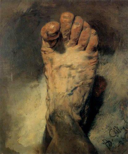 23 mai 2012 : 10ème Journée nationale de dépistage et de prévention pour la santé du pied   /    Adolph  VON  MENZEL  (1815-1905)   :  le pied du peintre  (1876)