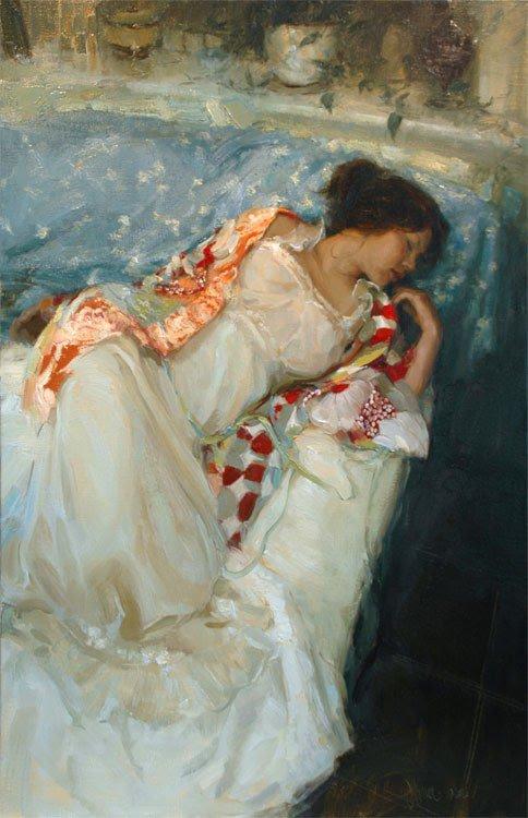 """2 tableaux trouvés chez """" figuration féminine """"    :   Johanna HARMON  , artiste américaine contemporaine"""
