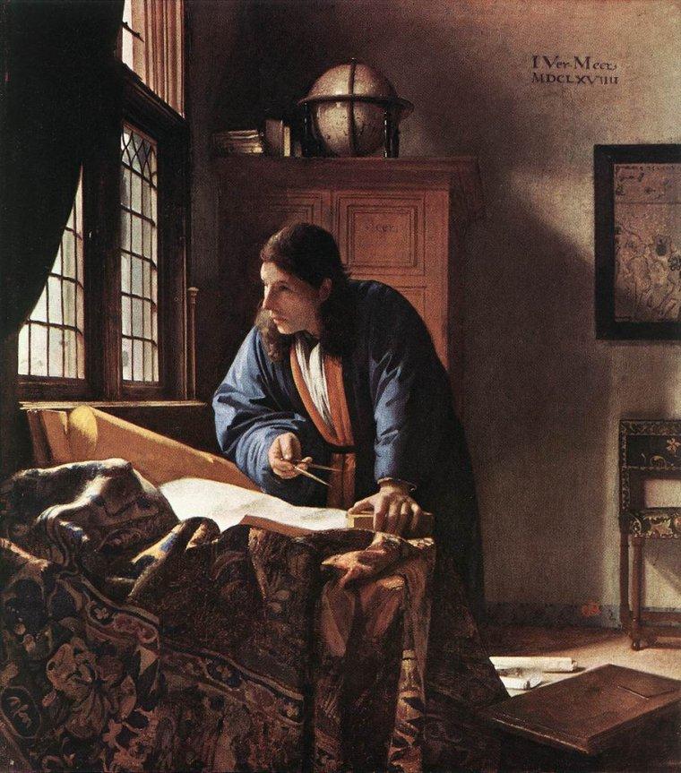 COUP  DE  COEUR  ...   Jan Vermeer de Delft (1632-1675)    :   le géographe