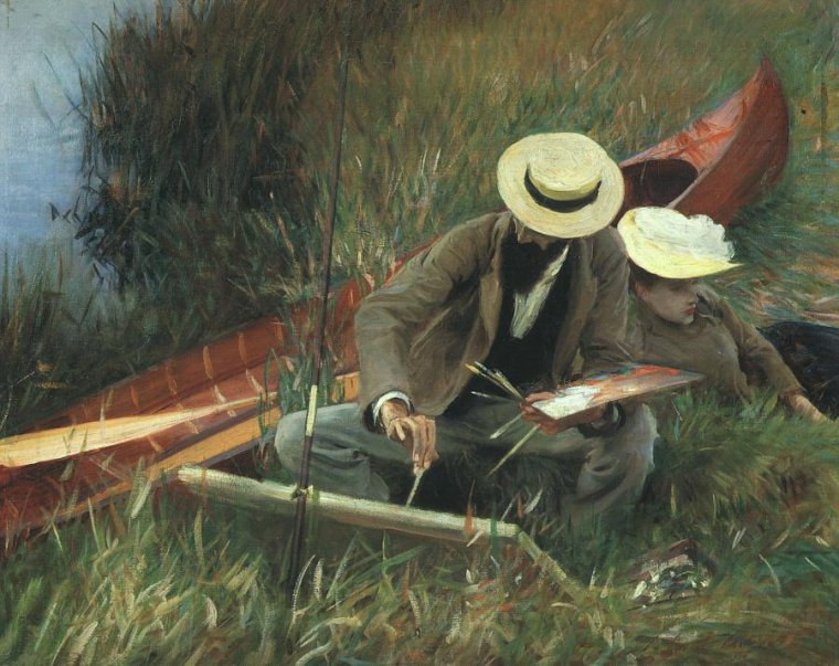 John  SINGER  SARGENT  (1856-1925)   :  Paul Helleu sketching with his wife  (1889)