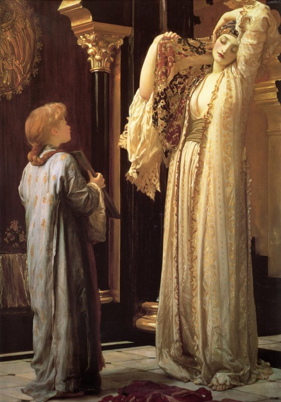 Frederic  LEIGHTON (1830-1896)   :  The  light of the harem (1880)