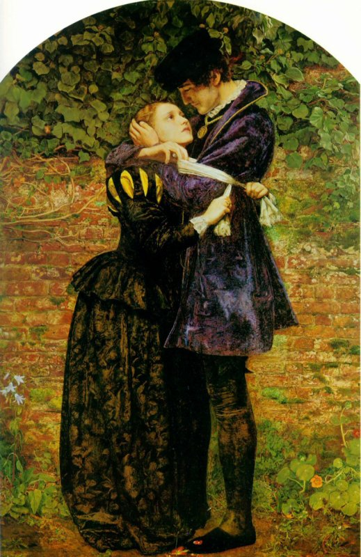Bonne fête ...Barthélemy    :    John Everett MILLAIS  (1829-1896) , Huguenot lovers on St. Bartholomew's Day   (1852)