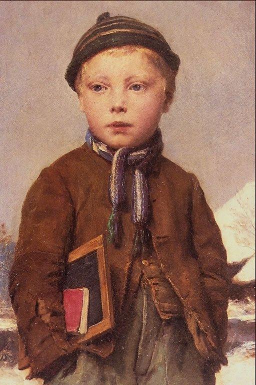 Rentrée des classes...  illustrée par 5 tableaux d' Albert  ANKER     (1831-1910)