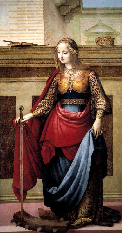 Fernando Yáñez de la Almedina  (1475-1536)   :  Sainte  CATHERINE   d' Alexandrie  (ca 1510)