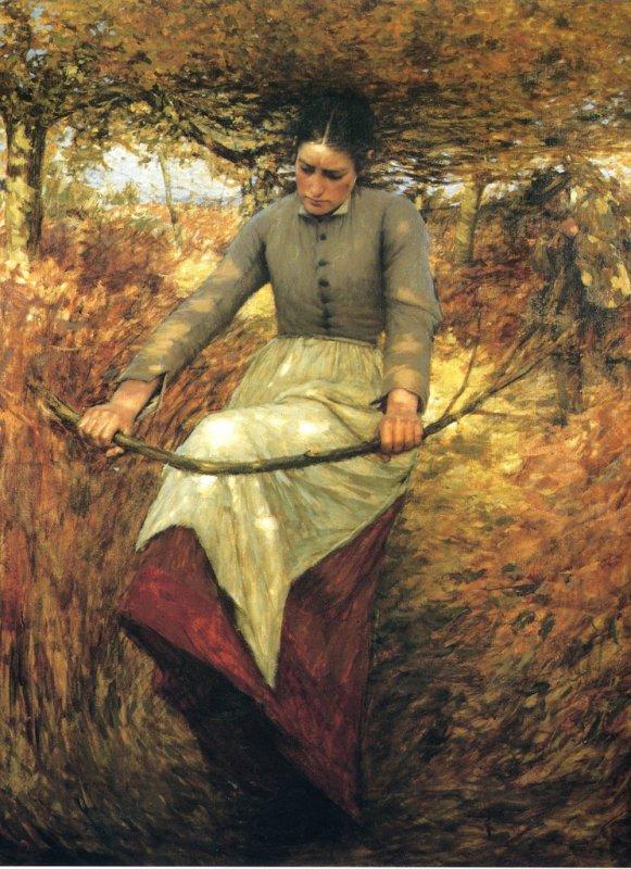 COUPS  DE  COEUR  ... Henry Herbert  LA  THANGUE  (1859-1929)   :   Some poor people  /  An autumn morning
