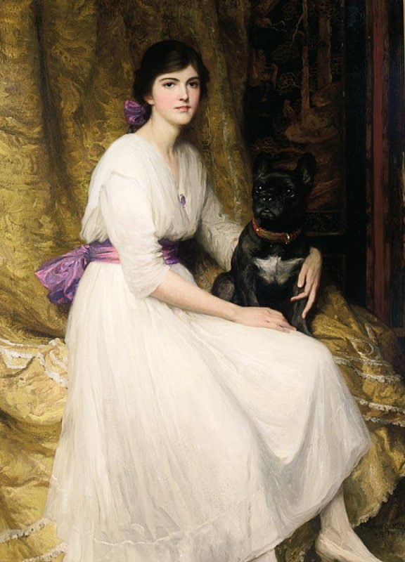 Sir Frank Bernard  DICKSEE (1853-1928)    :  portrait de la nièce de l'artiste  , Dorothy