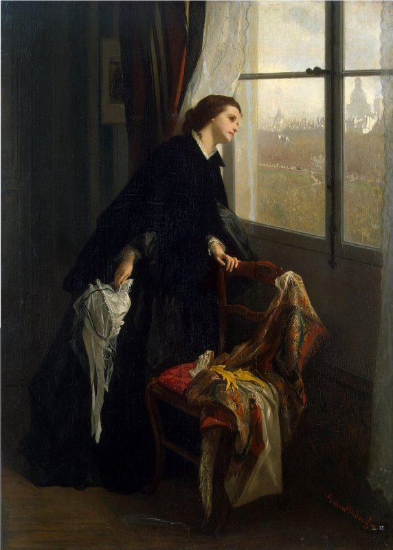 METEO DU JOUR...  Gustave  DE  JONGHE  (1829-1893)   :  temps variable