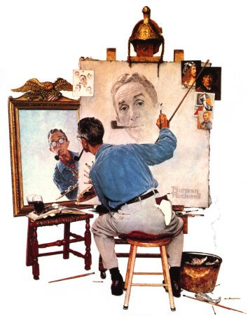 Norman  ROCKWELL  (1894-1978)   :  Retrouvailles  (1948)