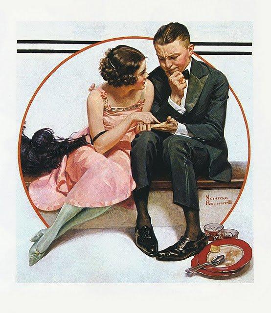 Norman  ROCKWELL   :   fortune teller  (1921)