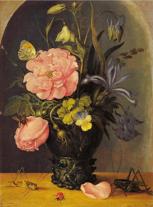 """"""" Neige à la Sainte-Isabelle, fait la fleur plus belle. """"   /  Roelandt  SAVERY  (1576-1639)  / 1611"""