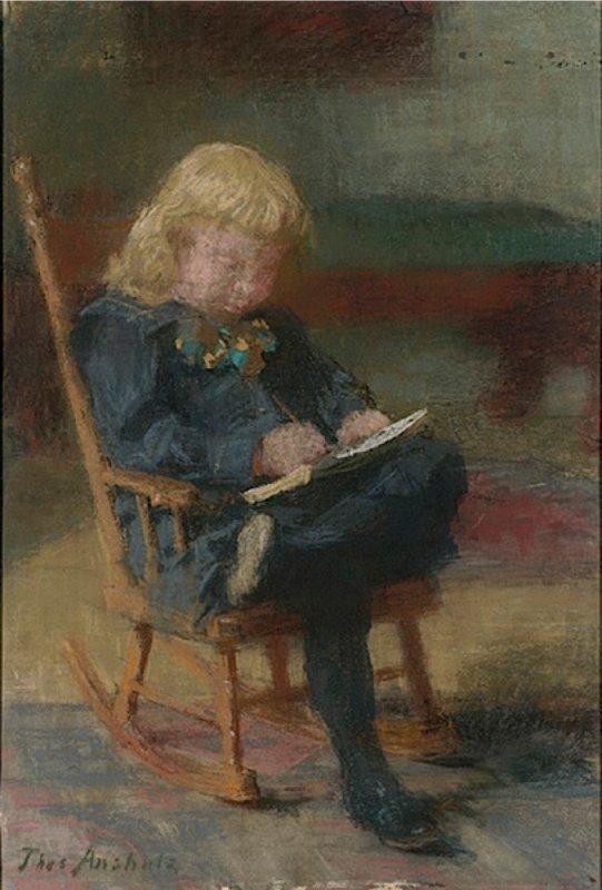 Pas de ramassage scolaire...   Thomas  POLLOCK  ANHUTZ  (1851-1912)