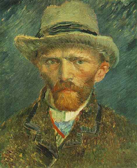 Anniversaire de la naissance de Vincent  VAN GOGH   (1853-1890)  :  autoportrait au chapeau de feutre gris (1886)