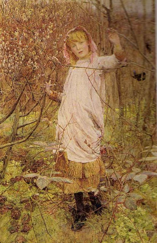Lionel  PERCY SMYTHE  (1839-1918)  :  the first buds of spring  (1885)