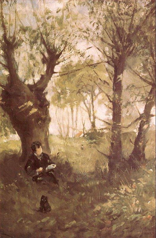 Météo du jour....  Berthe  MORISOT   (1841-1895)  :  Le vieux chemin à Auvers sur Oise
