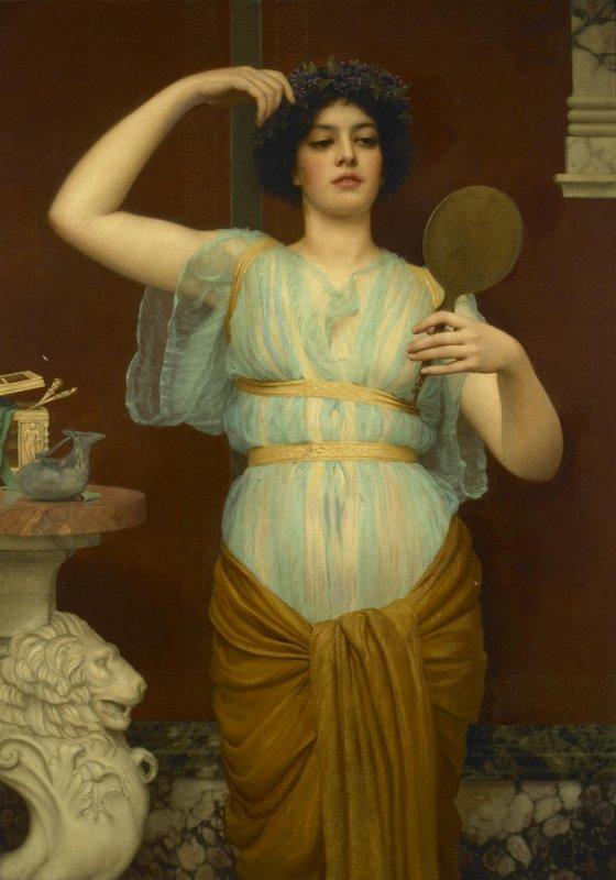Toilette et miroirs...  :  John William  GODWARD  (1861-1922)