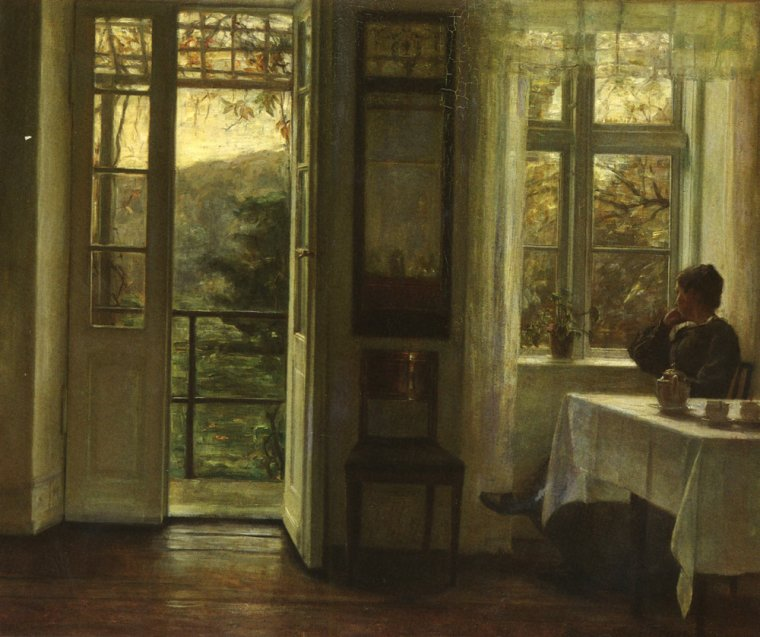 Carl Vilhelm  HOLSOE  ,  peintre danois   (1863-1935)