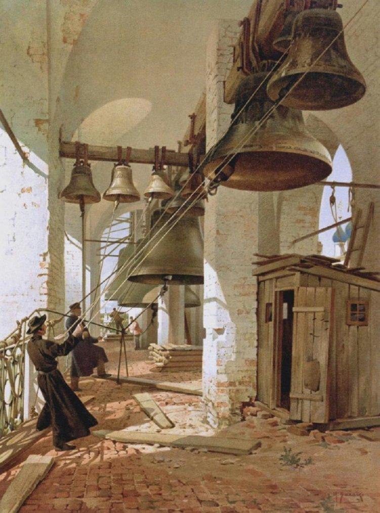 Villie Mikhail YAKOVLEVICH (1838-1910) : cloches festives, ca 1890 -  Miscellanées & Petits bonheurs du jour , hic e...