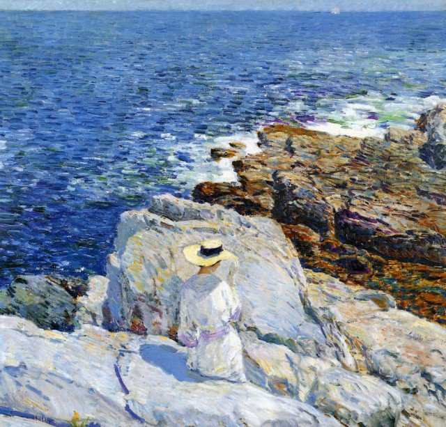 Frederick  CHILDE HASSAM  (1859-1935)   :   Appledore the South Ledges