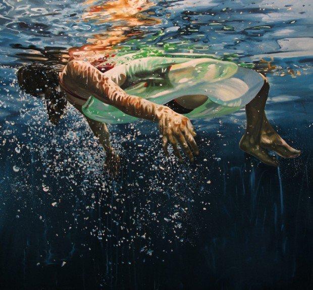 2 tableaux d' Eric ZENER  , artiste américain contemp.
