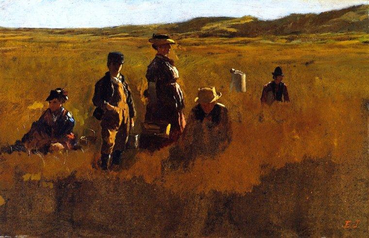 John  EASTMAN   (1842-1880)   :  in the fields