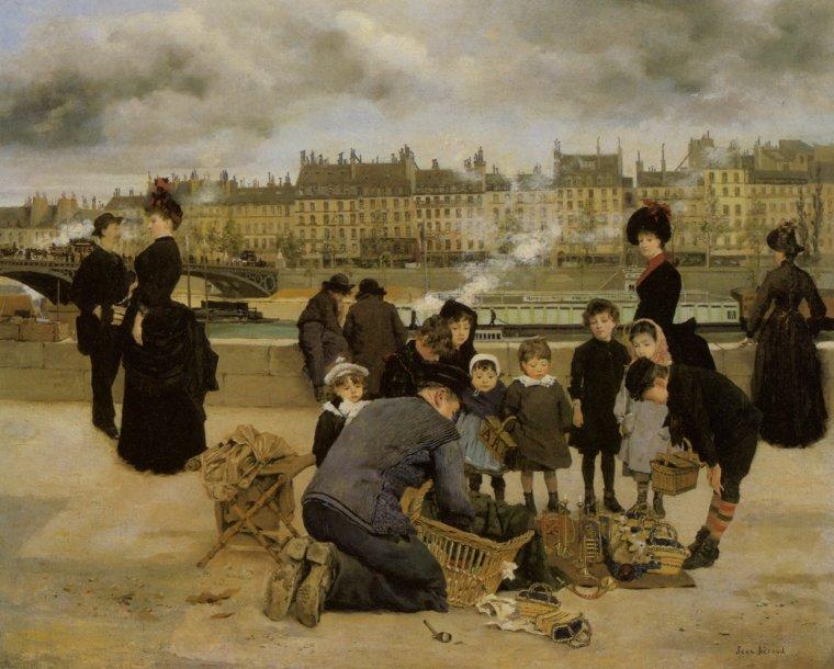 COUPS DE COEUR ...  3 tableaux de Jean BERAUD  (1849-1935)