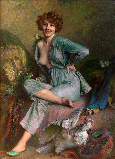 COUP  DE  COEUR  ...  Emile  FRIANT  (1863-1932)   :   les oiseaux familiers