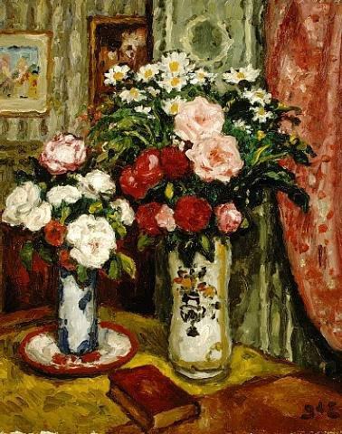Pour Liseur-liseuse  :  Georges d' Espagnat (1870-1950)   /   Joseph Christian Leyendecker (1874-1951)