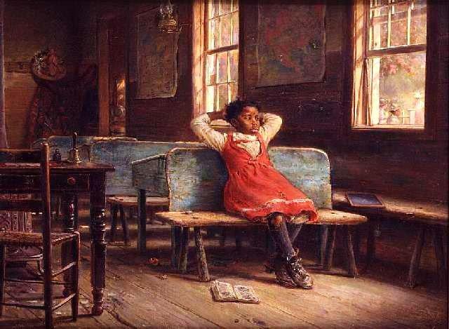Pour Liseur-liseuse ... :   3 tableaux de Edward Lamson Henry (1841-1919)   /  1 tableau de Thomas Waterman Wood  (1823-1903)