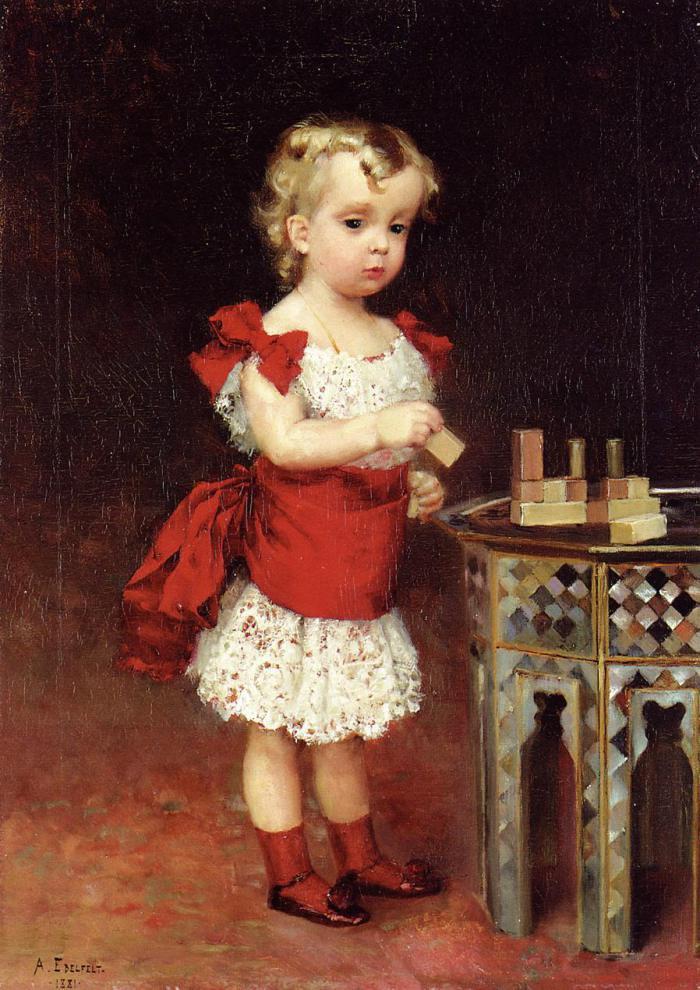 COUPS DE COEUR ...    4 tableaux d' Albert EDELFELT  (1854-1905)  , peintre finlandais
