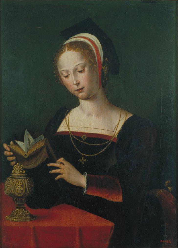 5 portraits de Marie Madeleine... avec livres