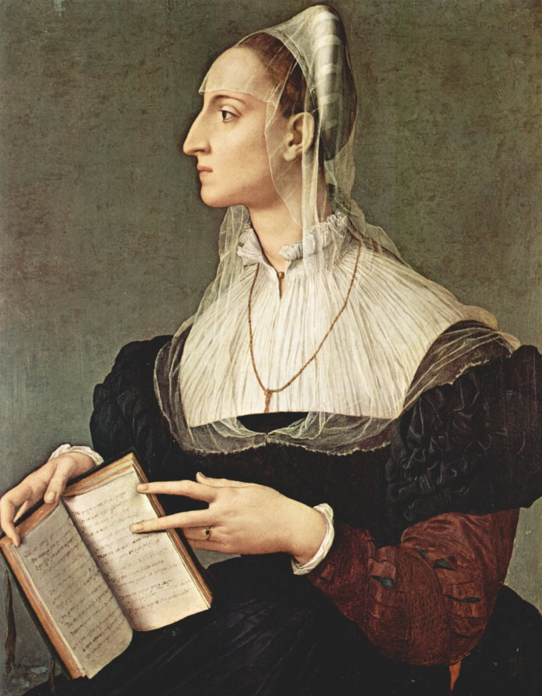 2  tableaux d'Angelo  BRONZINO (1503-1572)  :  Portrait de Laura Battiferri   /   Portrait de Dante