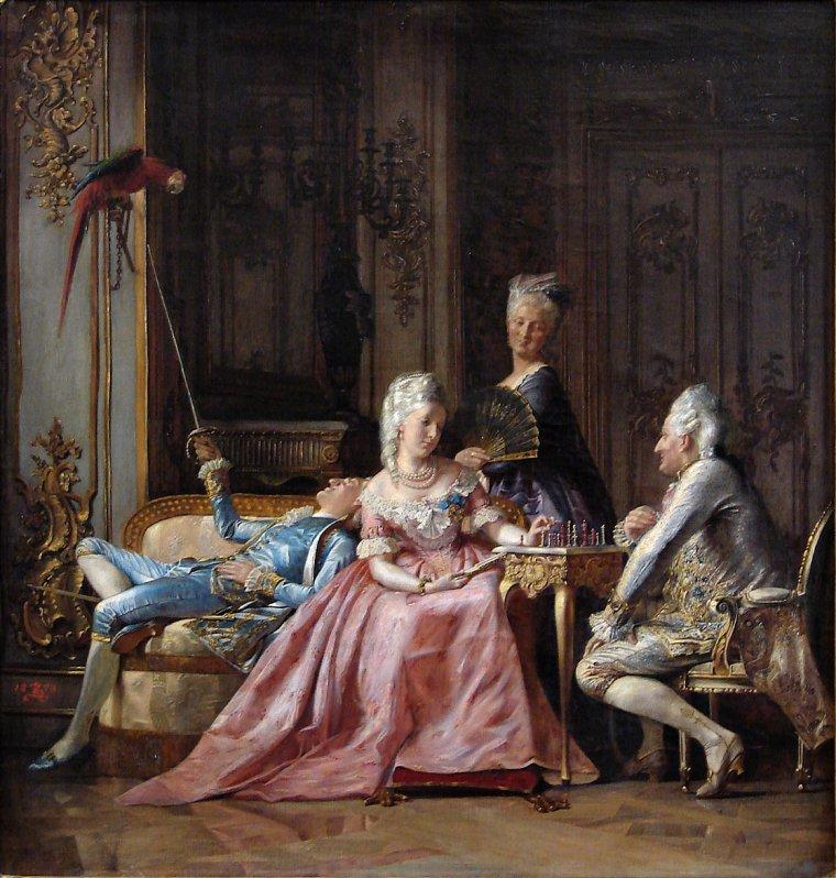 4 tableaux de  Kristian  ZAHRTMANN  (1843-1917)  , peintre danois