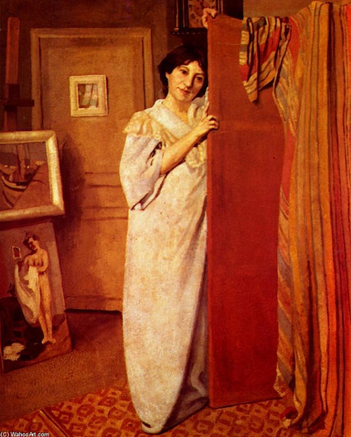 Moïse  KISLING  (1891-1953)   /   Félix  VALLOTTON  (1864-1925)