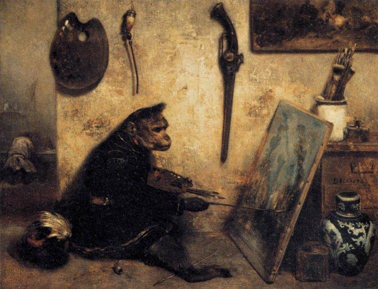 COUP DE COEUR  :  un peintre inattendu ...   /    Alexandre Gabriel  DECAMPS  (1803-1860)